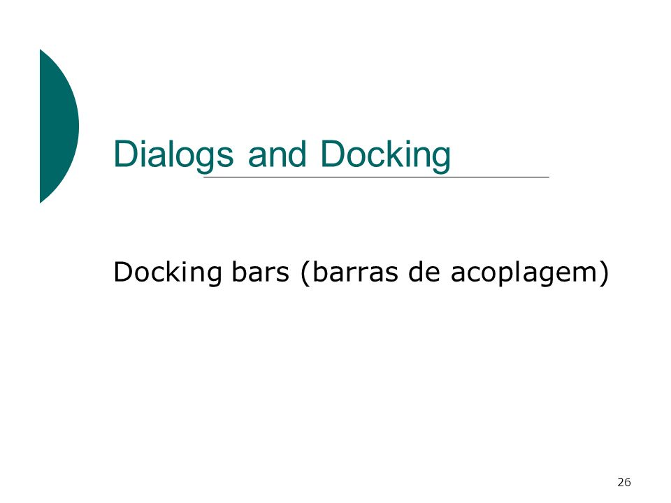 Docking bars (barras de acoplagem)