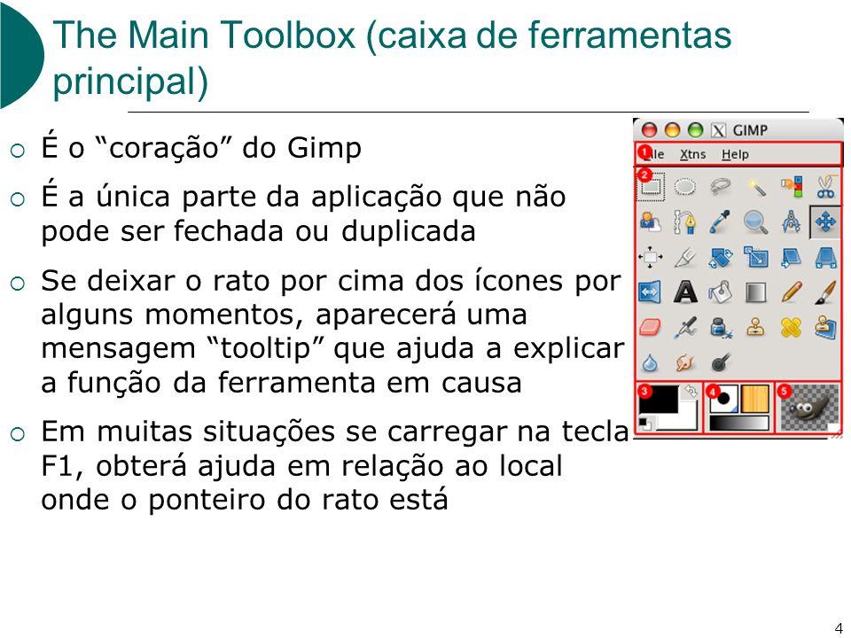 The Main Toolbox (caixa de ferramentas principal)