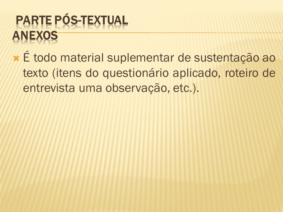 Parte Pós-textual Anexos