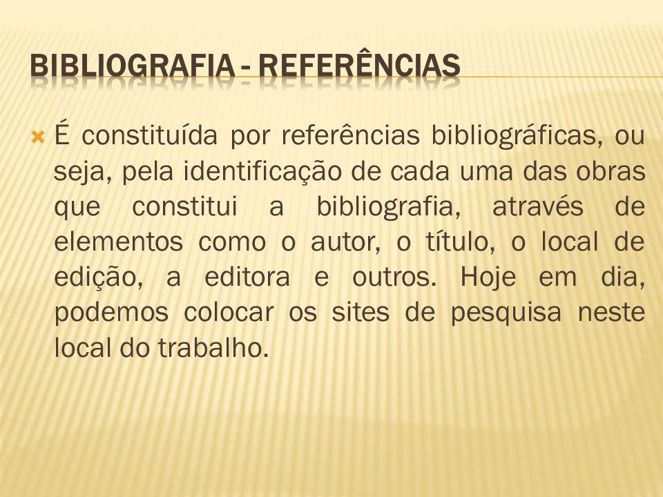 Bibliografia - Referências