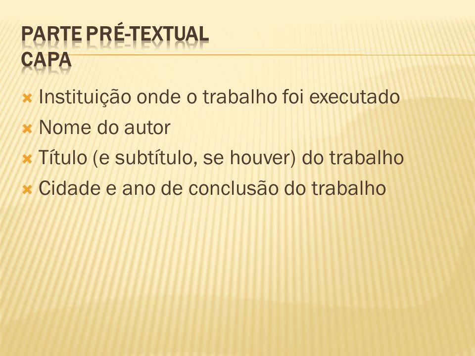 Parte Pré-textual Capa