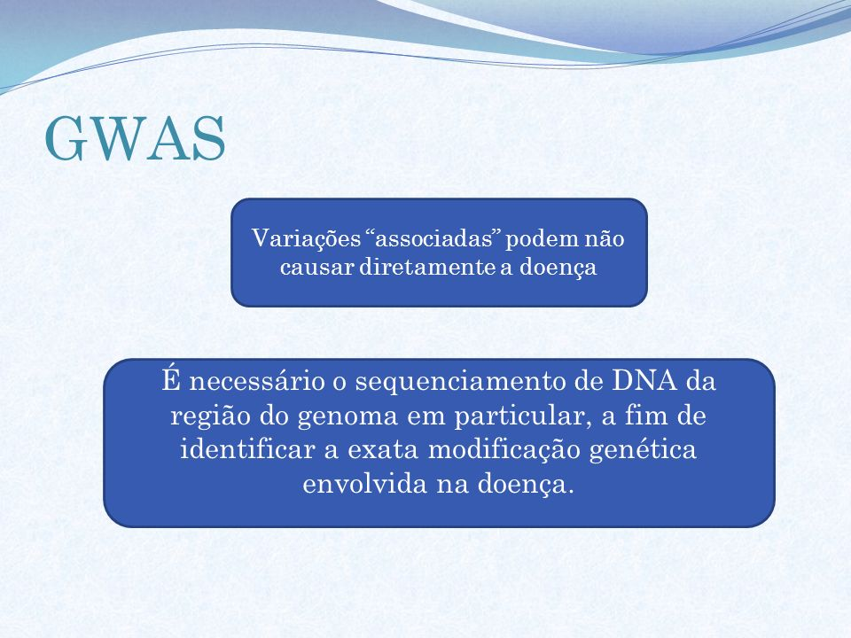 Variações associadas podem não causar diretamente a doença