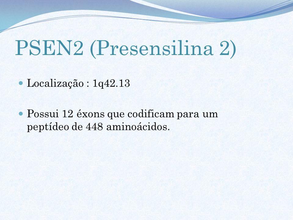 PSEN2 (Presensilina 2) Localização : 1q42.13