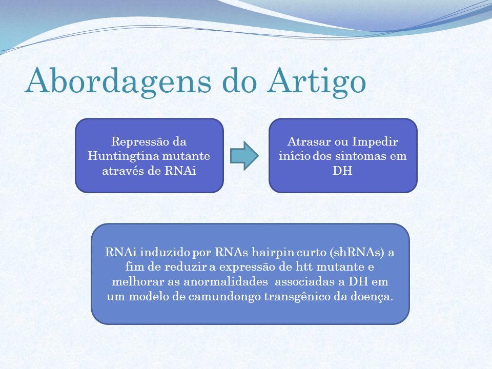 Abordagens do Artigo Repressão da Huntingtina mutante através de RNAi