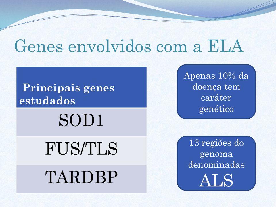 Genes envolvidos com a ELA