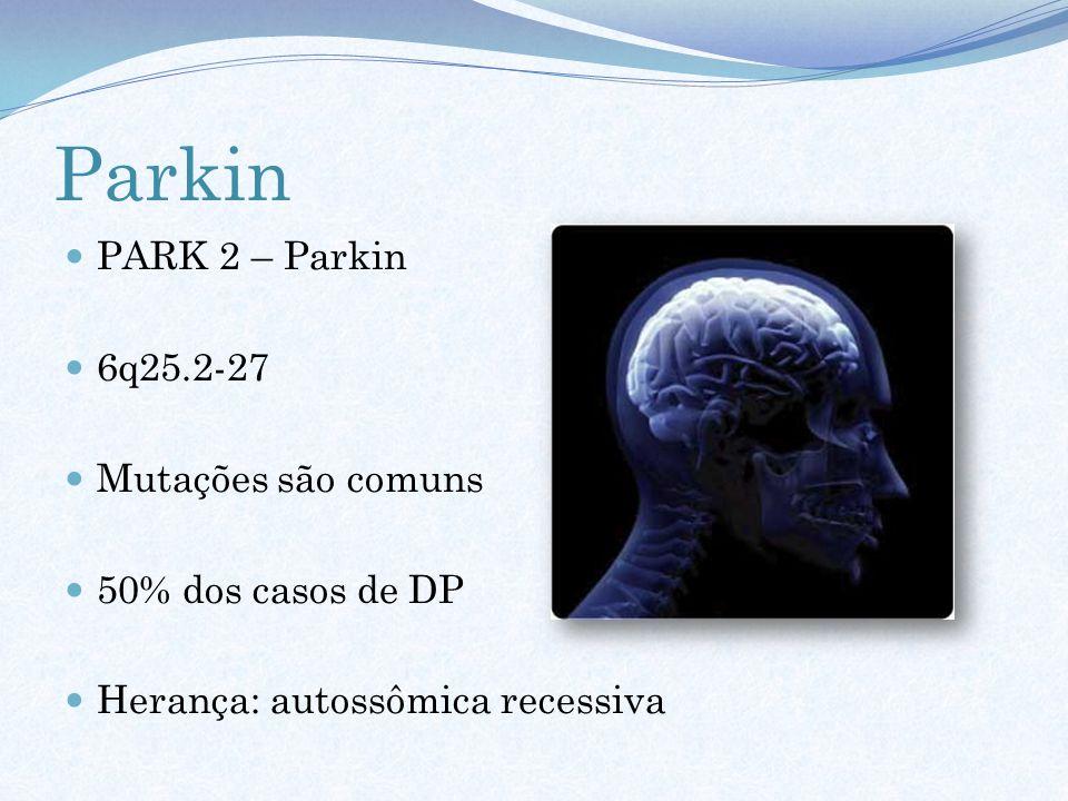 Parkin PARK 2 – Parkin 6q25.2-27 Mutações são comuns