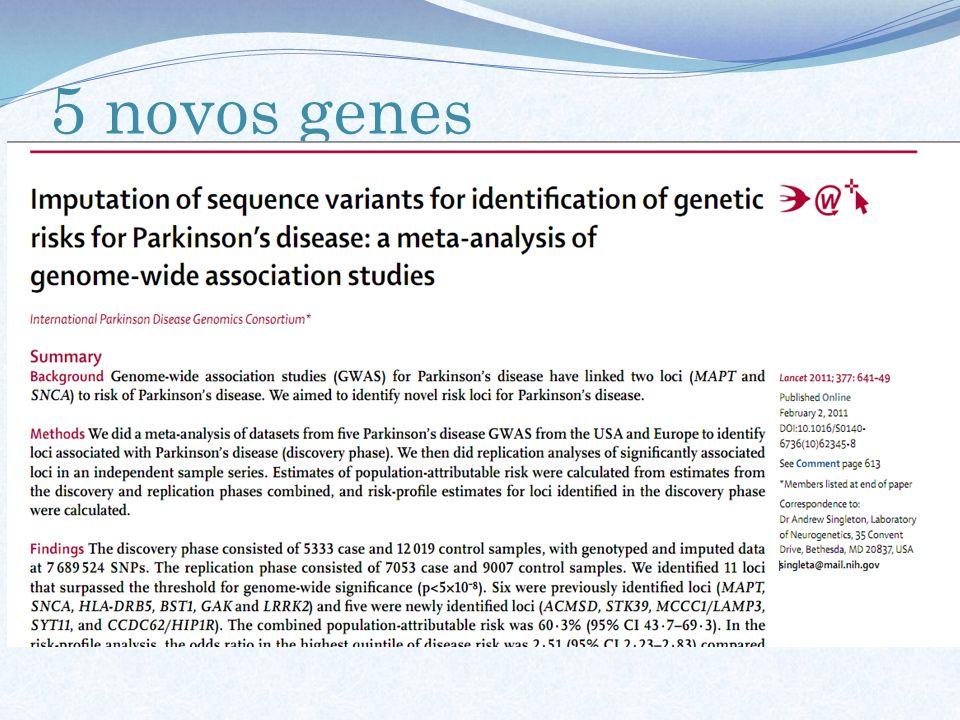 5 novos genes
