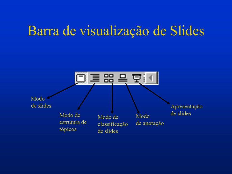 Barra de visualização de Slides