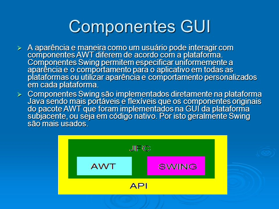 Componentes GUI