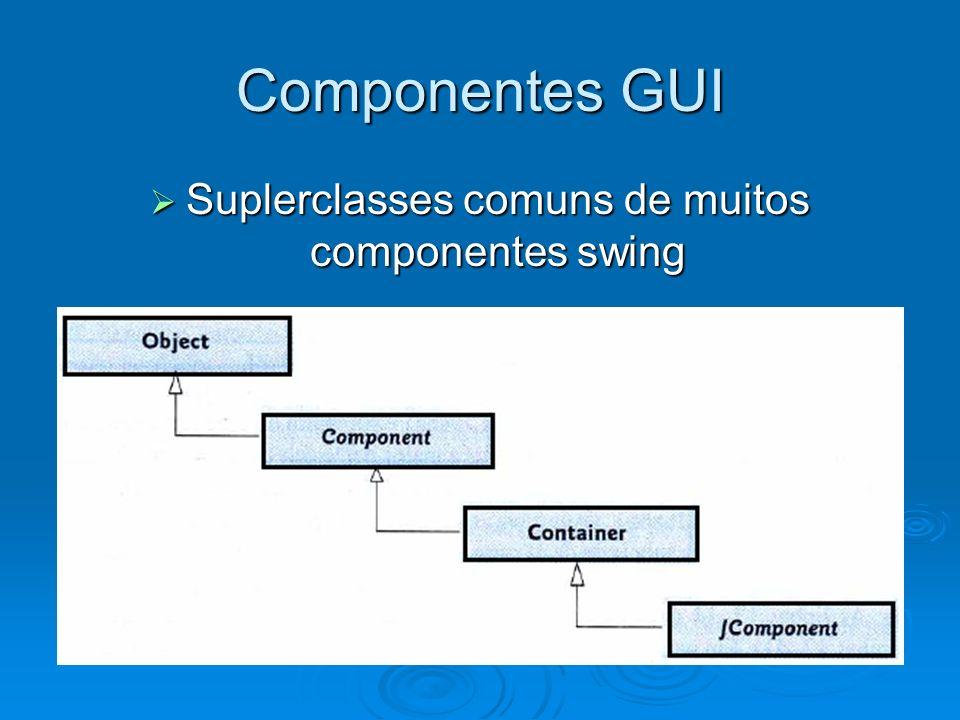 Suplerclasses comuns de muitos componentes swing