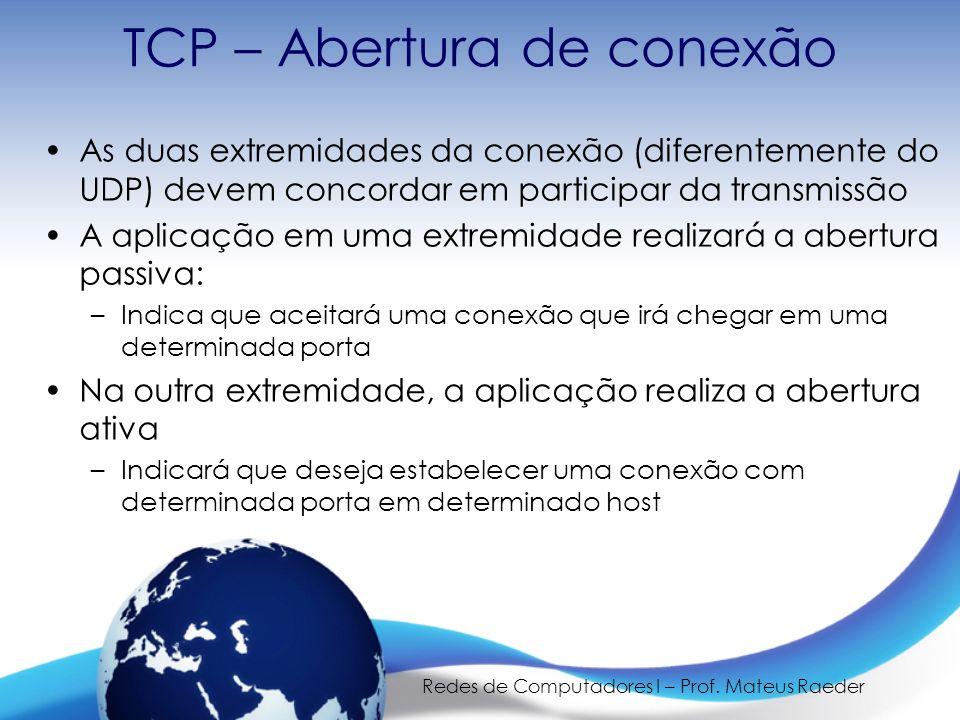 TCP – Abertura de conexão