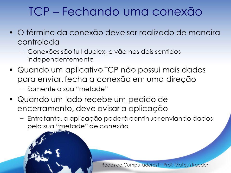 TCP – Fechando uma conexão