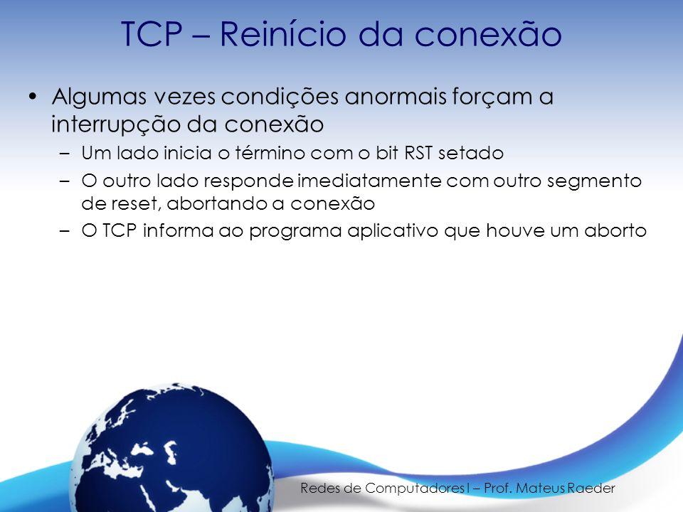 TCP – Reinício da conexão