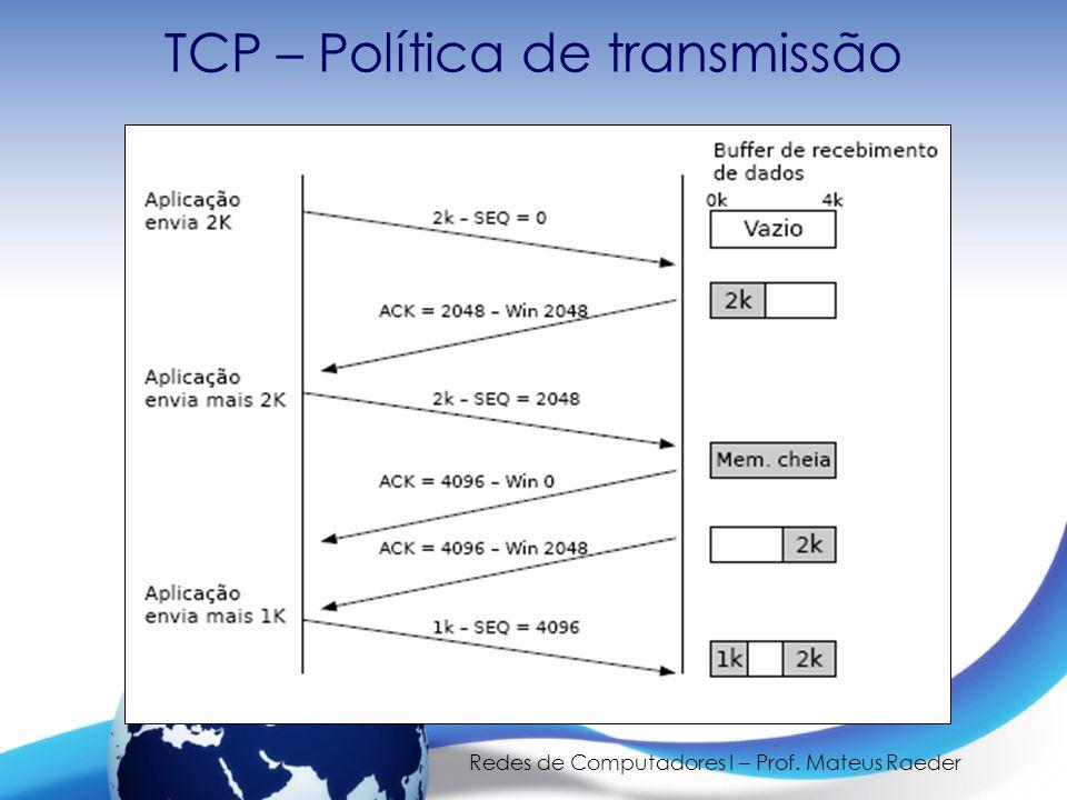 TCP – Política de transmissão