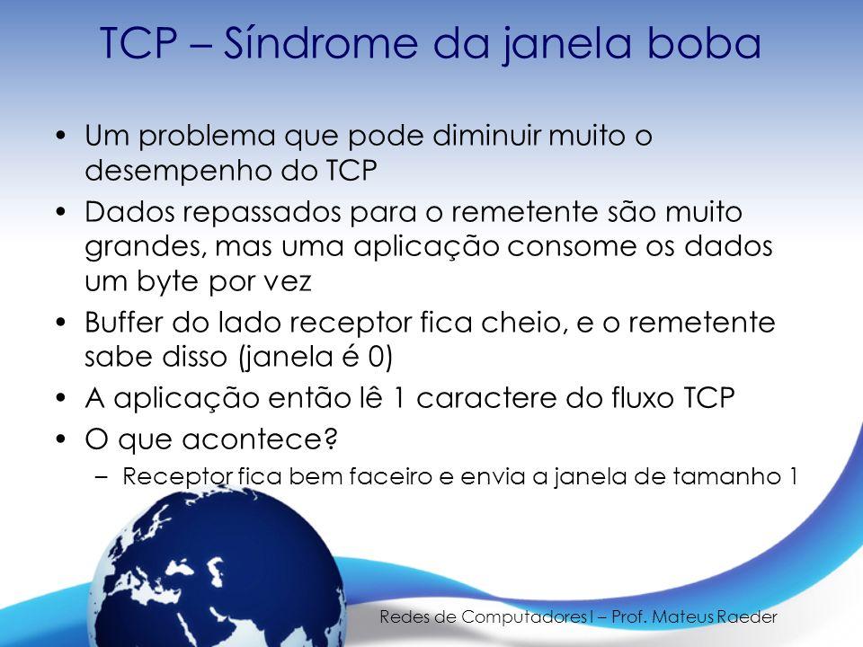 TCP – Síndrome da janela boba