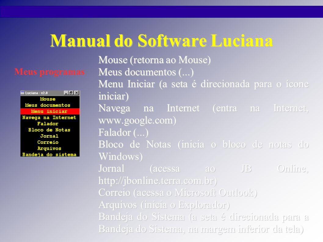 Manual do Software Luciana