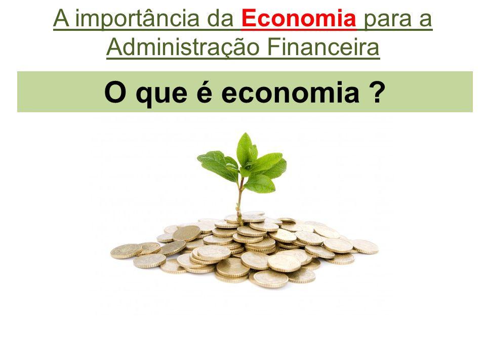 A importância da Economia para a Administração Financeira