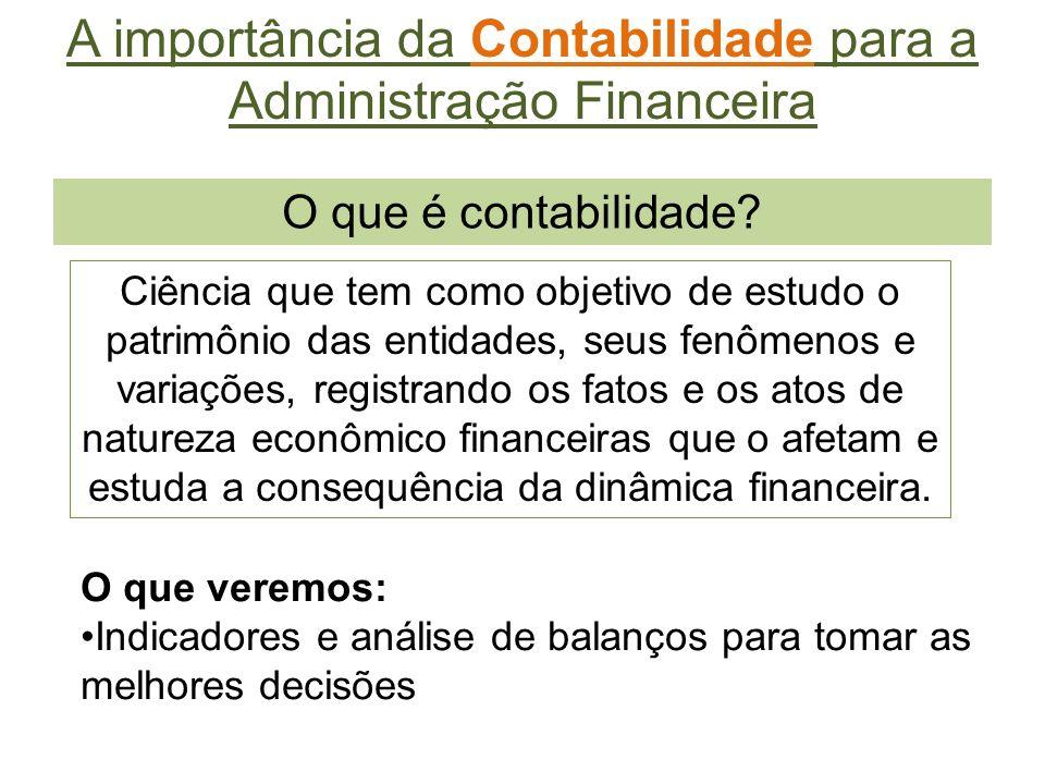 A importância da Contabilidade para a Administração Financeira
