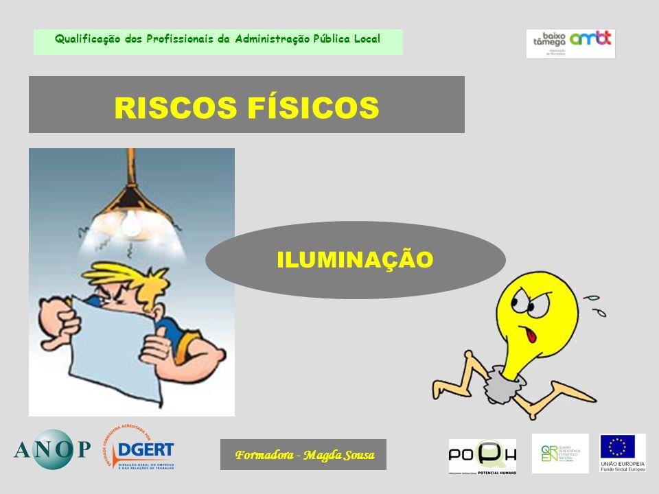 RISCOS FÍSICOS ILUMINAÇÃO Formadora - Magda Sousa