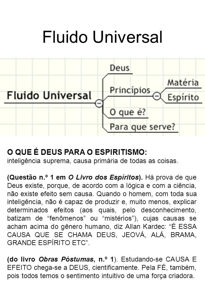 Fluido Universal O QUE É DEUS PARA O ESPIRITISMO: