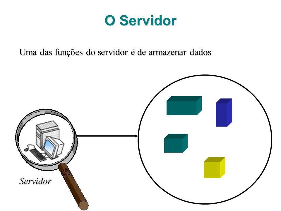 O Servidor Uma das funções do servidor é de armazenar dados Servidor
