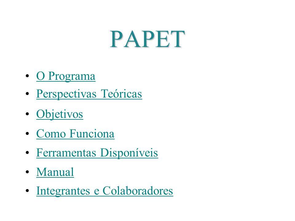 PAPET O Programa Perspectivas Teóricas Objetivos Como Funciona