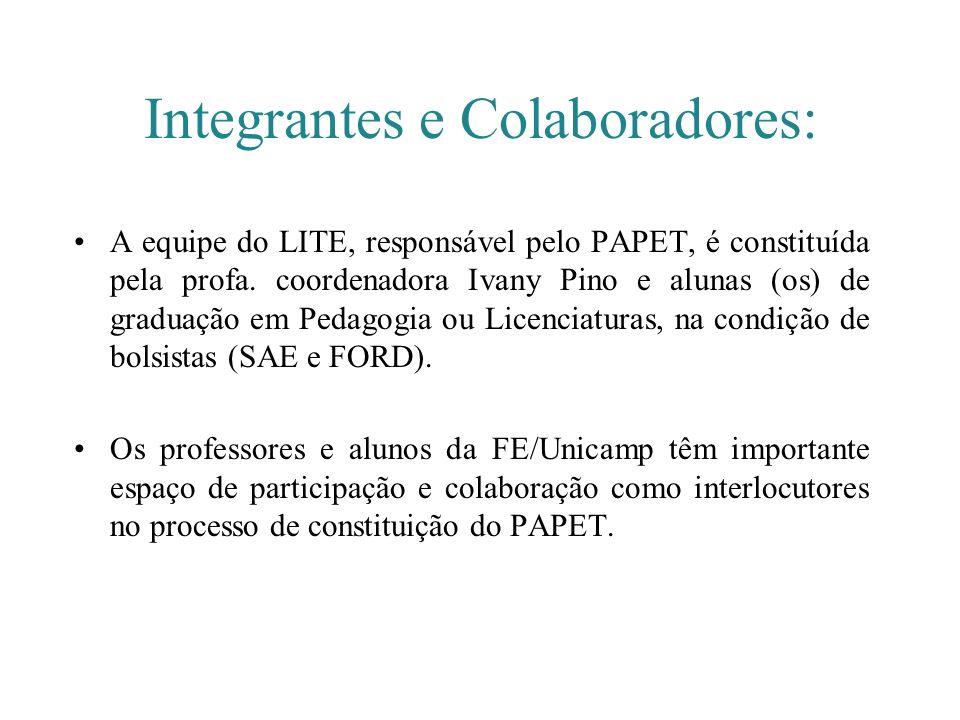 Integrantes e Colaboradores: