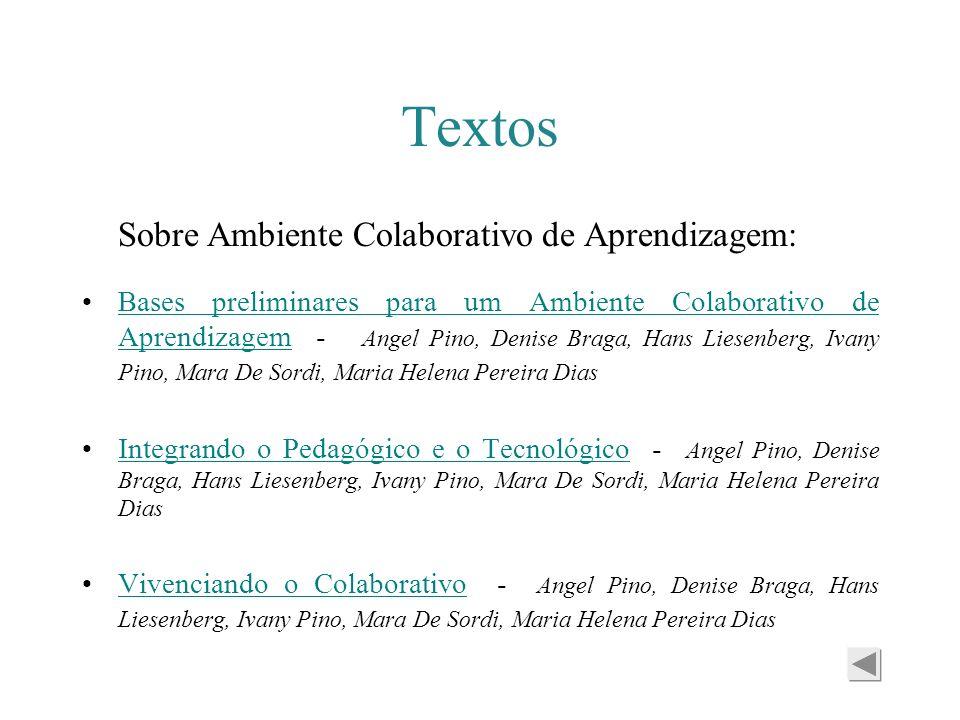 Textos Sobre Ambiente Colaborativo de Aprendizagem:
