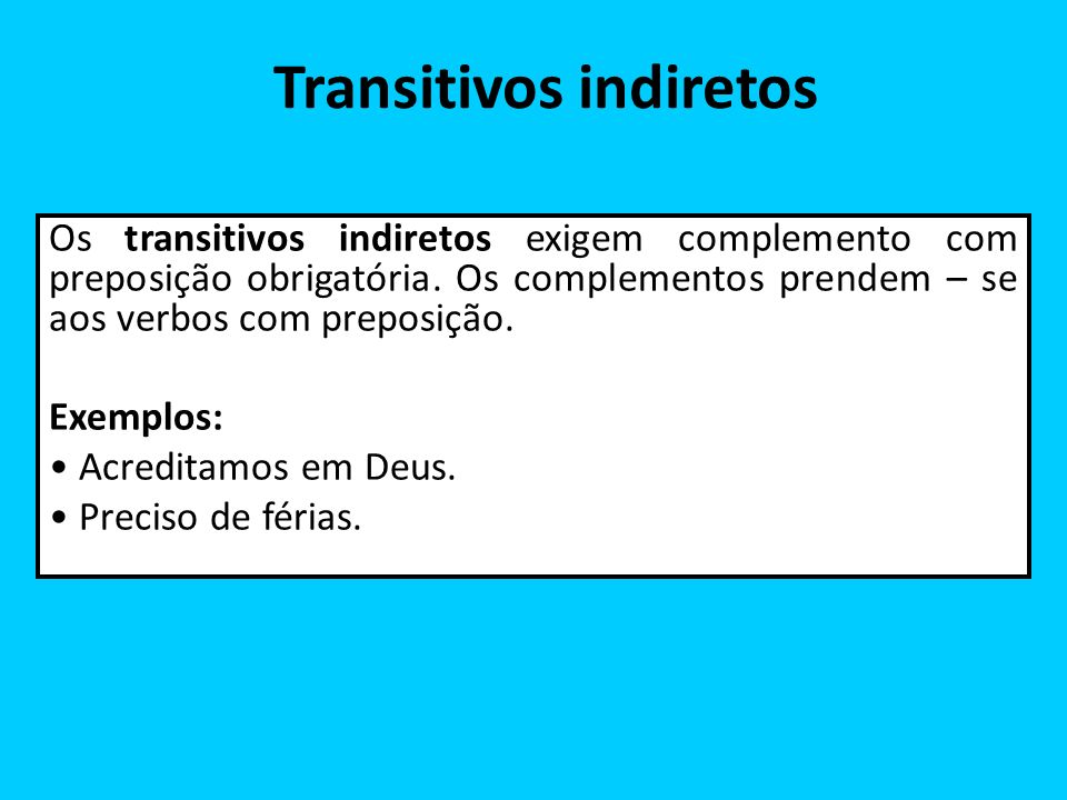 Transitivos indiretos