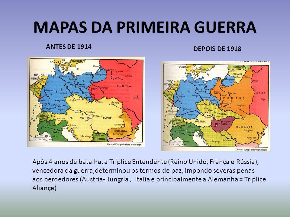 MAPAS DA PRIMEIRA GUERRA