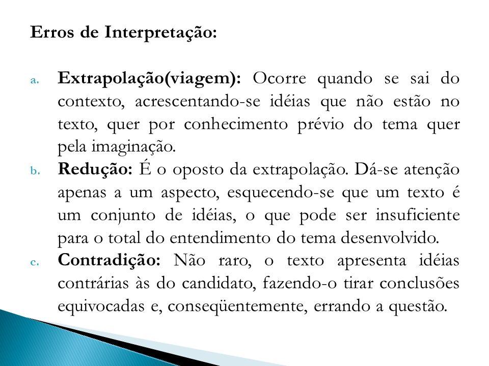 Erros de Interpretação: