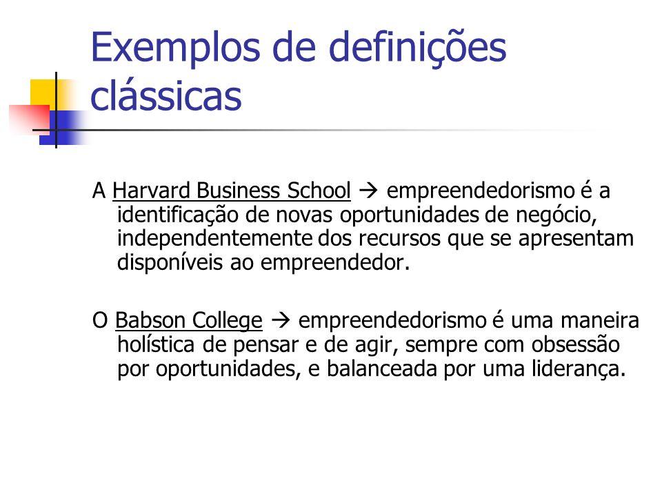Exemplos de definições clássicas