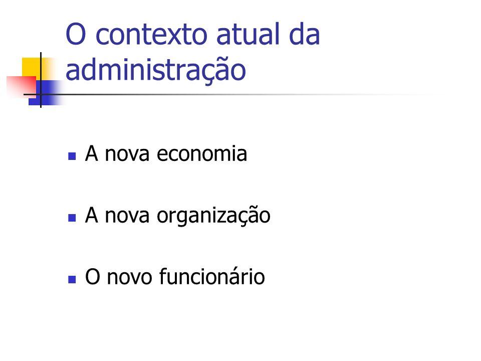 O contexto atual da administração