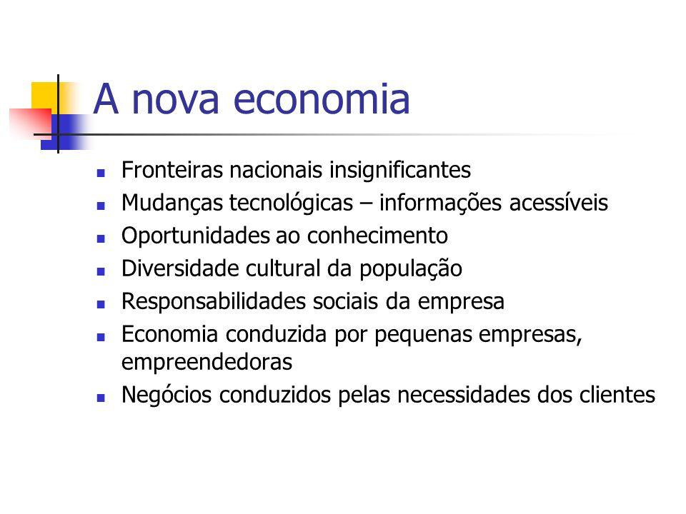 A nova economia Fronteiras nacionais insignificantes