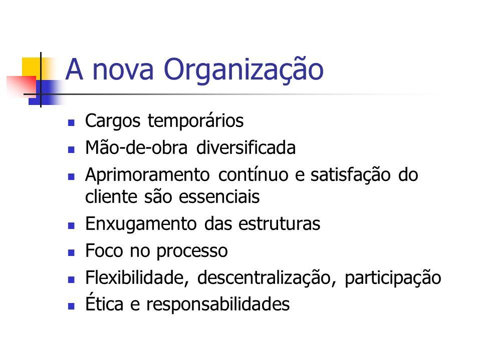A nova Organização Cargos temporários Mão-de-obra diversificada
