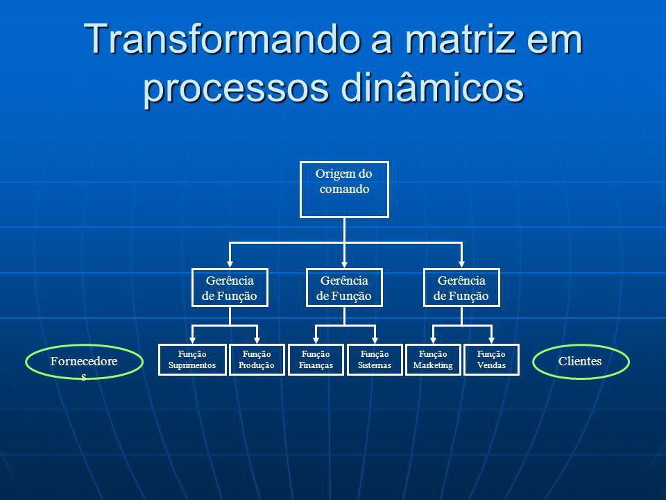 Transformando a matriz em processos dinâmicos