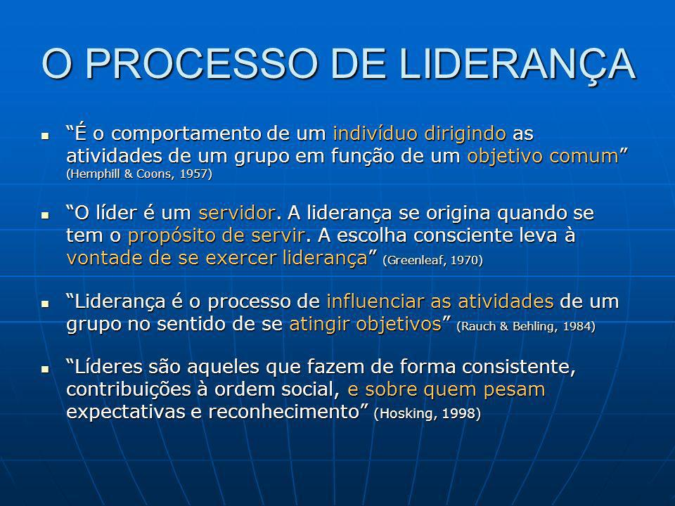 O PROCESSO DE LIDERANÇA