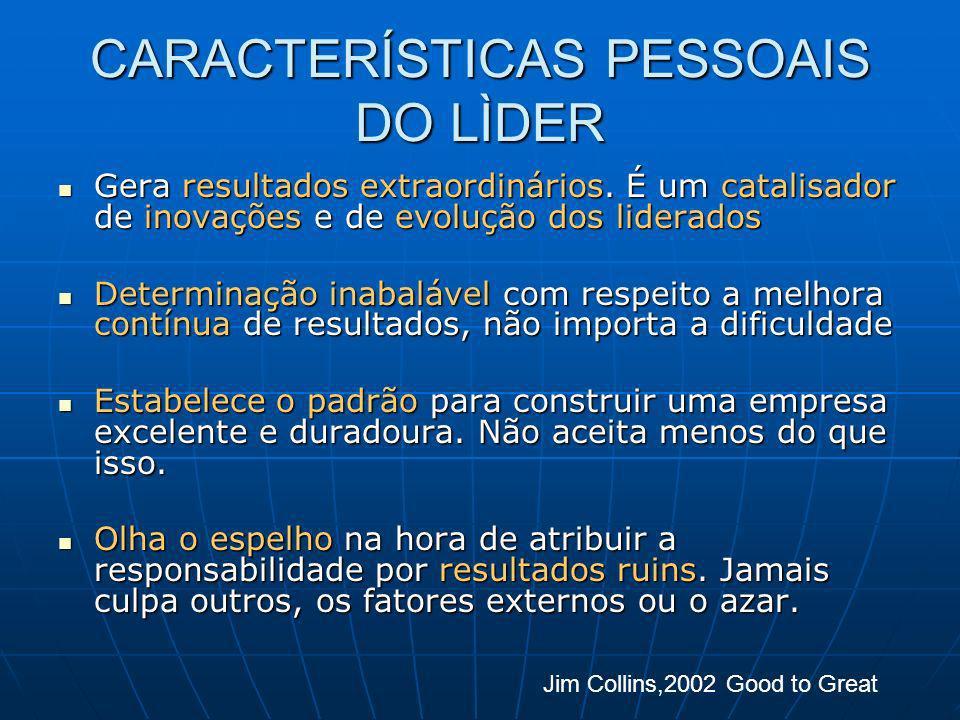 CARACTERÍSTICAS PESSOAIS DO LÌDER
