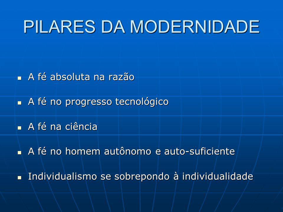 PILARES DA MODERNIDADE