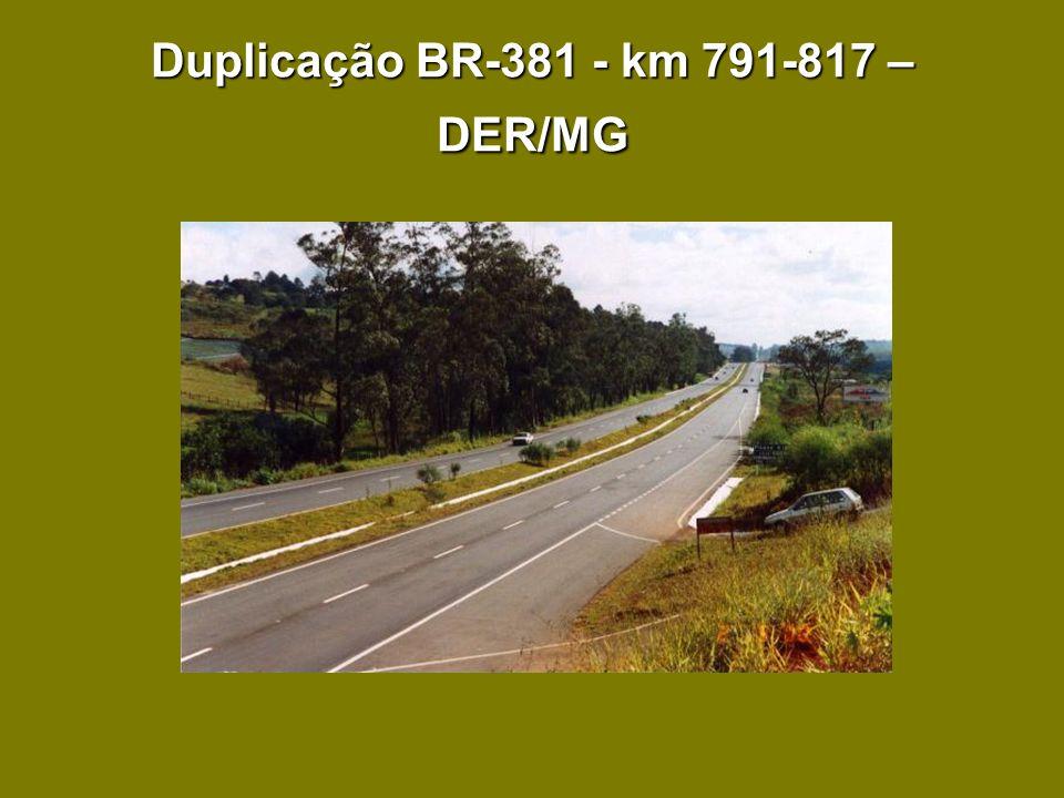 Duplicação BR-381 - km 791-817 – DER/MG