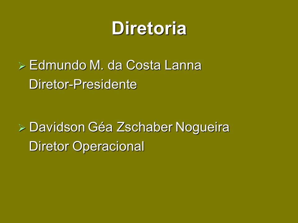 Diretoria Edmundo M. da Costa Lanna Diretor-Presidente
