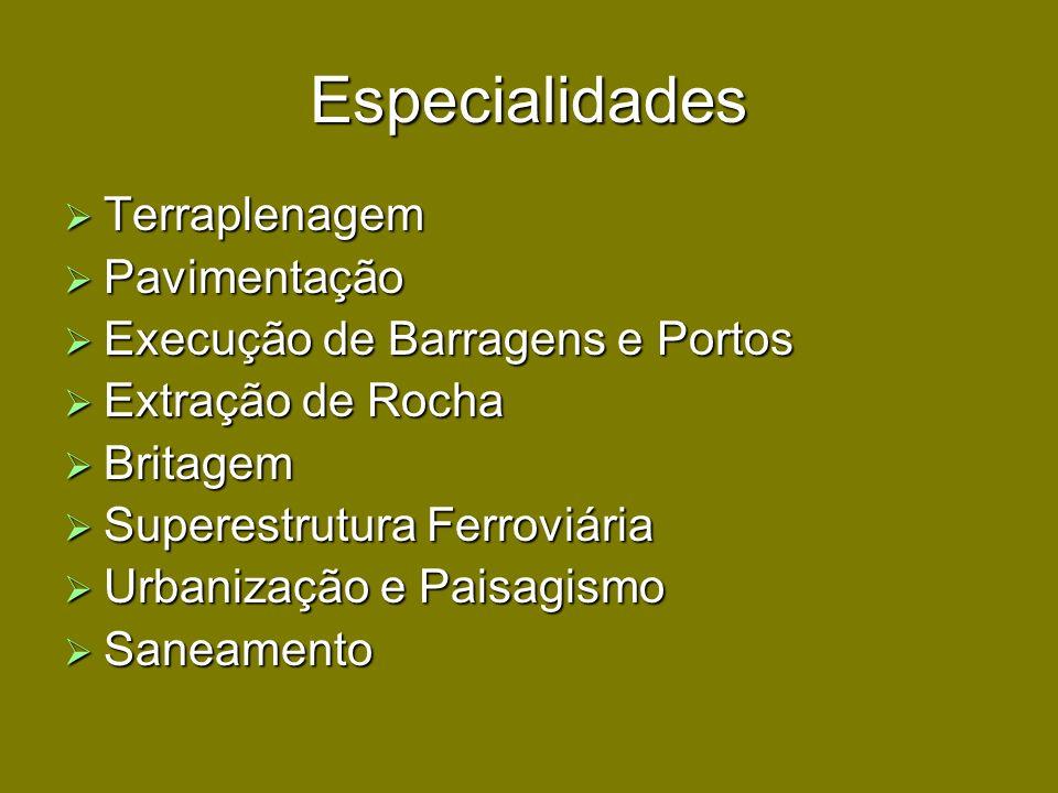 Especialidades Terraplenagem Pavimentação