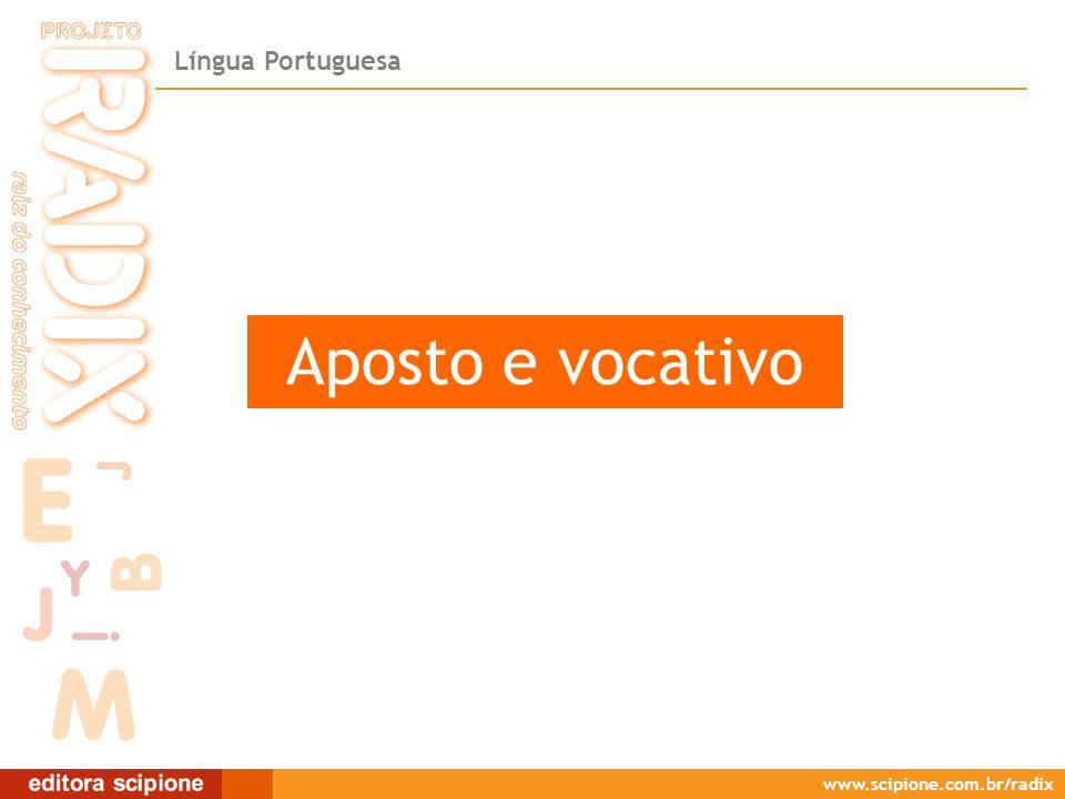 Aposto e vocativo Aposto e vocativo