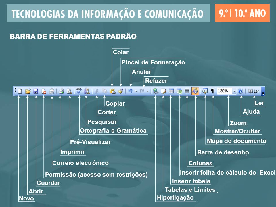 BARRA DE FERRAMENTAS PADRÃO