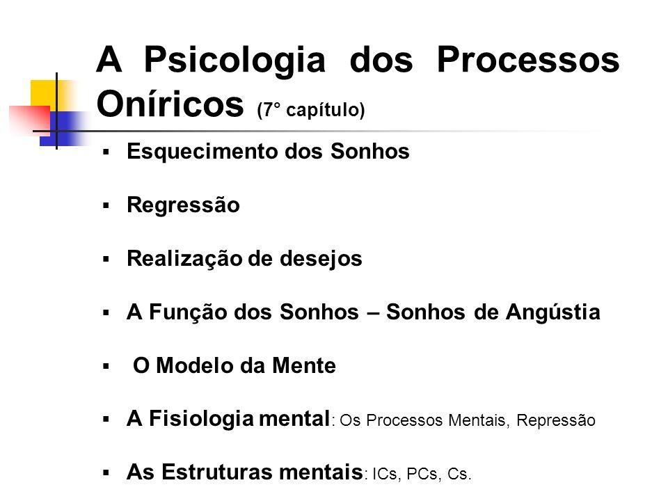A Psicologia dos Processos Oníricos (7° capítulo)