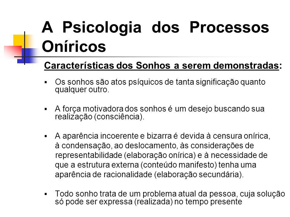 A Psicologia dos Processos Oníricos