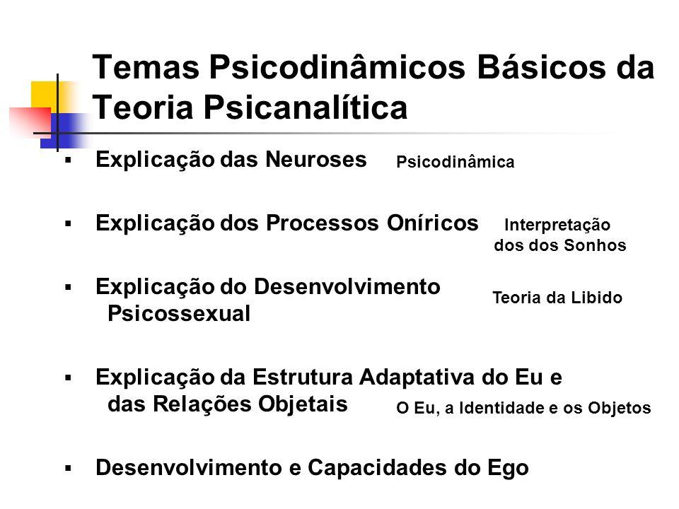Temas Psicodinâmicos Básicos da Teoria Psicanalítica