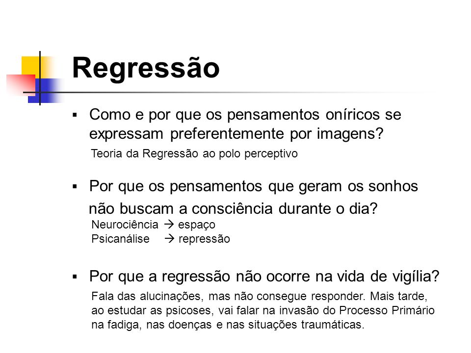 Teoria da Regressão ao polo perceptivo