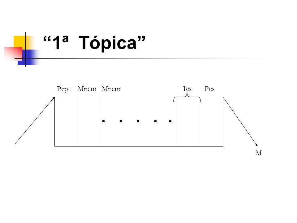 1ª Tópica Pcpt Mnem Mnem Ics Pcs • • • • • M