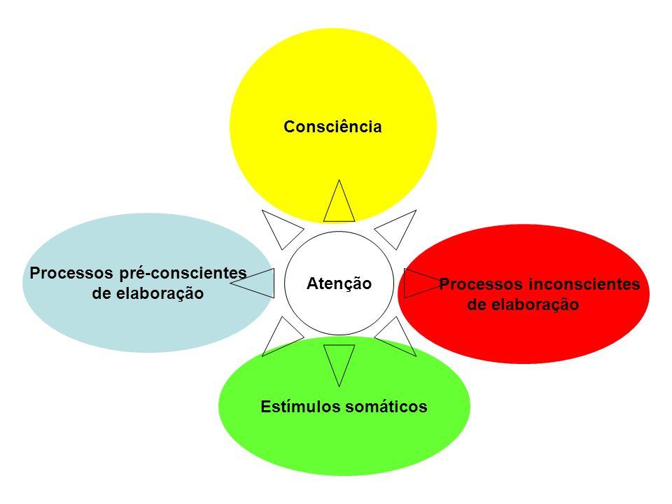 Processos pré-conscientes Processos inconscientes